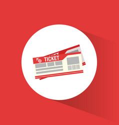 Ticket airline travel concept vector