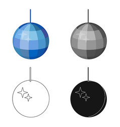 Disco ball icon in cartoon style isolated on white vector
