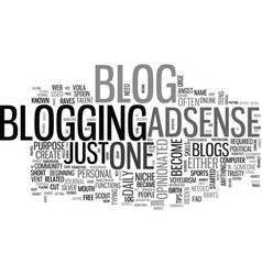 What is a blog and why have one text word cloud vector