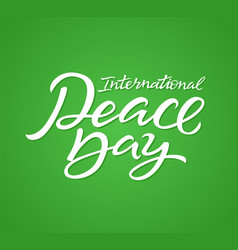 International peace day - hand drawn brush vector