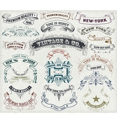 23 Labels and banners vector image
