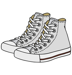 White sneakers vector