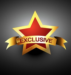 Exclusive icon vector