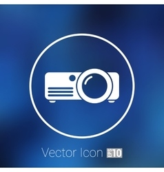Projector icon rounded squares button vector