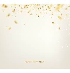Golden confetti vector