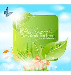 Spring leaves banner vector