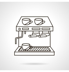 Coffee shop appliances flat line icon vector