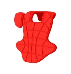 Baseball catcher chest protector icon vector