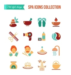 Spa treatments for men and women set of spa and vector