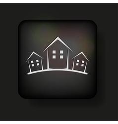 Simplistic Real Estate Icon vector image