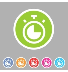 Timer stopwatch clock icon flat web sign symbol vector