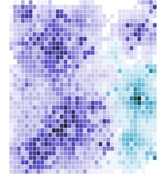 Abstract mosaic tiled pattern in blue and purple vector