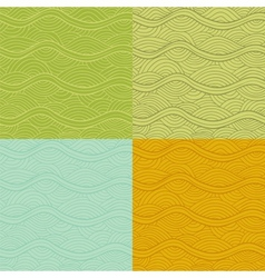 Abstract seamless patterns set vector image vector image