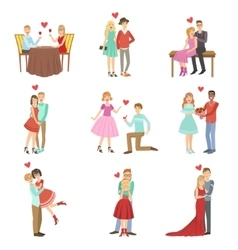 Adult Couples On A Date vector image