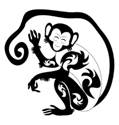 An of a stylised monkey vector