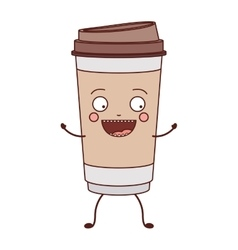 Animated glass disposable for hot drinks vector