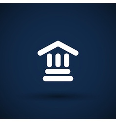 bank icon isolated symbol building vector image