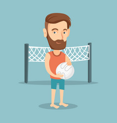 Beach volleyball player vector