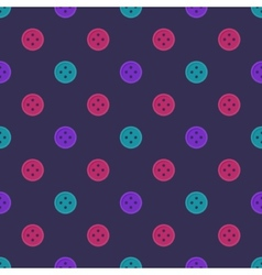 Bright seamless pattern made of buttons vector
