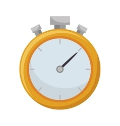 Chronometer watch icon vector