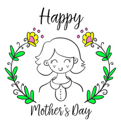 Cute style mother day collection vector