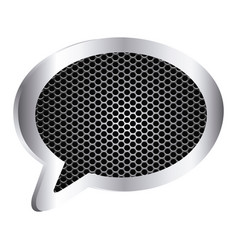 Dialog callout box with grill perforated frame vector