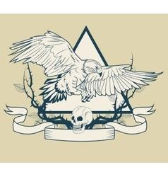 Eagle tattoo art design vector image