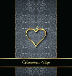 Elegant classic valentines day background vector