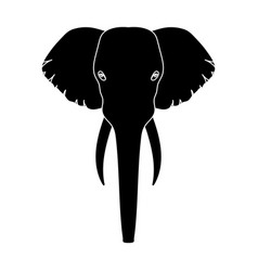 elephant icon in black style isolated on white vector image