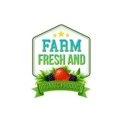 Farm fresh and organic product vector