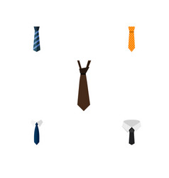 Flat icon clothing set of clothing textile tie vector