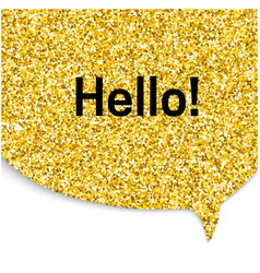 Gold speech bubble vector