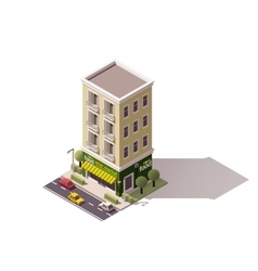 isometric mini market vector image