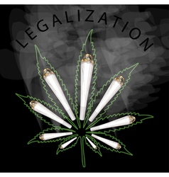 Legalization of marijuana vector image vector image