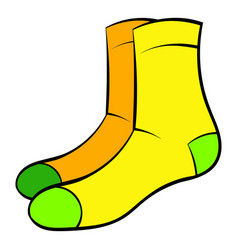 Men socks icon cartoon vector