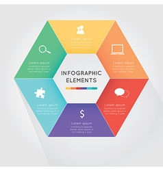 Modern hexagon infographics options vector