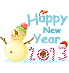 New Year Snow Man vector image vector image