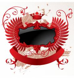 red black banner vector image vector image