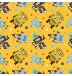 Robots Seamless Pattern vector image vector image