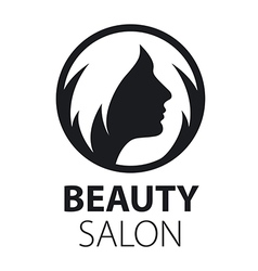 Round logo womens hairstyle vector