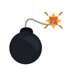 Security system concept bomb icon vector
