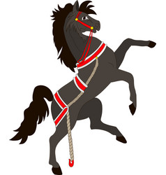 silhouette of a rearing horse vector image