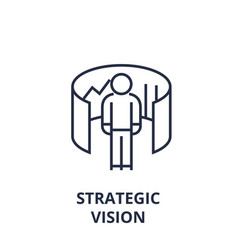 Strategic vision line icon outline sign linear vector