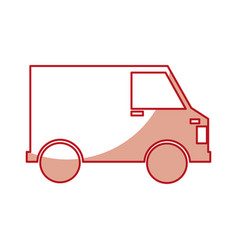 Van delivery service icon vector