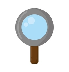 Magnifying glass search isolated icon vector