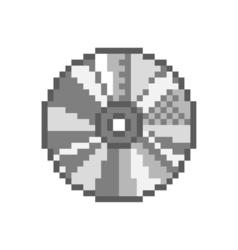 Compact disc 8 bit games audio movies cd dvd - vector