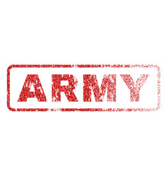 army rubber stamp vector image