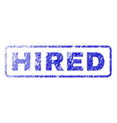 Hired rubber stamp vector