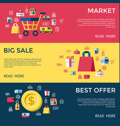 digital yellow red shopping sale vector image