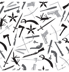 Weapons and guns gray pattern eps10 vector